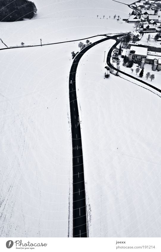 White City Winter House (Residential Structure) Black Far-off places Street Snow Above Landscape Fear Earth Ice Frost Driving Bird's-eye view