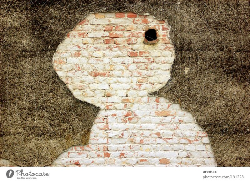 Old House (Residential Structure) Wall (building) Architecture Wall (barrier) Esthetic Broken Manmade structures Brick Figure Destruction Silhouette Weathered Abstract Rendered facade