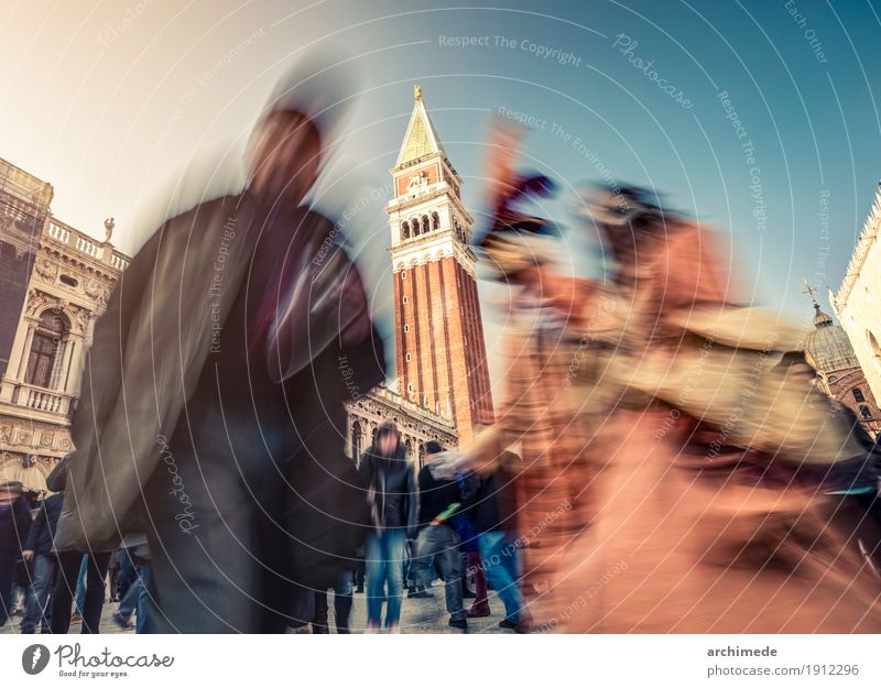 Venice Carnival Lifestyle Places Street Movement Colour Tradition carnival mask costume Italy City people Unrecognizable Horizontal background Copy Space