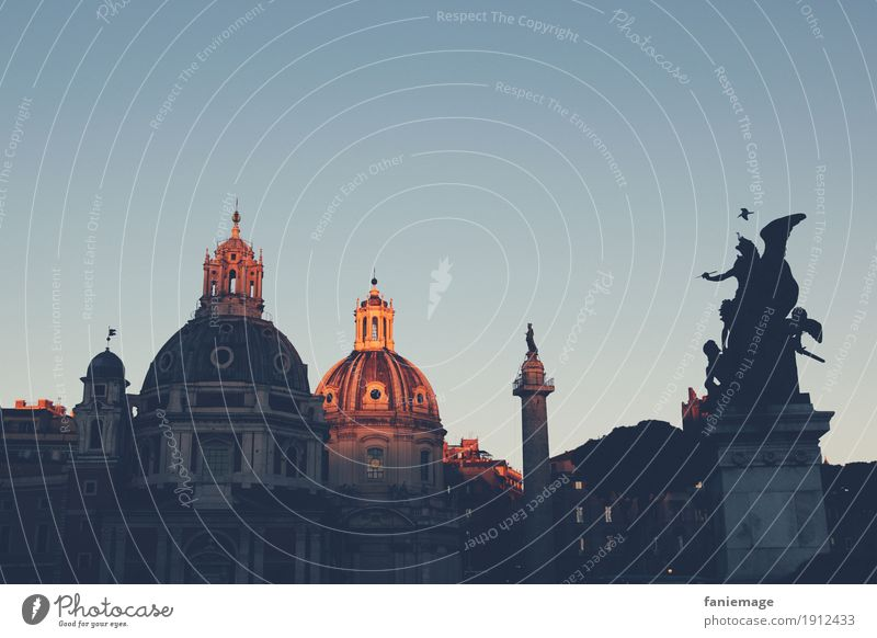 Vacation & Travel Old Town Beautiful Calm Emotions Moody Tourism Orange Trip Idyll Culture Italy Roof Illuminate Capital city