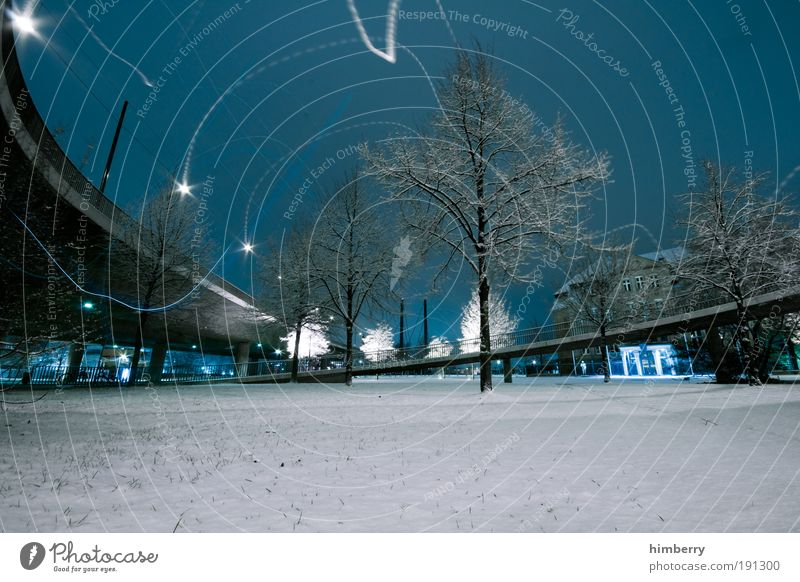 Sky City Winter Street Snow Meadow Landscape Ice Architecture Road traffic Environment Transport Bridge Energy industry Places