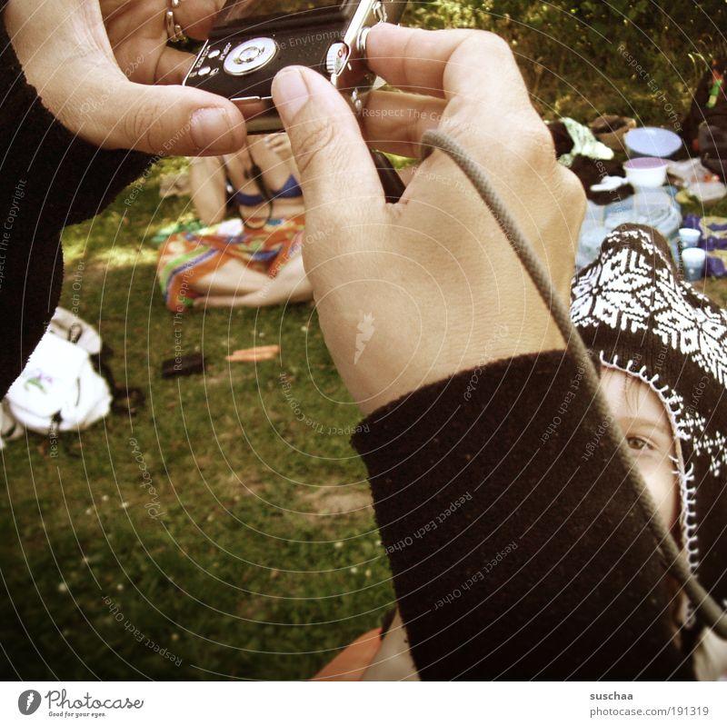Woman Human being Child Hand Summer Joy Life Meadow Grass Garden Group Head Park Adults Arm