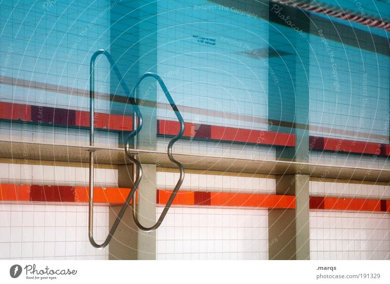 Blue Water Relaxation Sports Style Line Orange Interior design Leisure and hobbies Elegant Trip Design Esthetic Success Stripe Retro