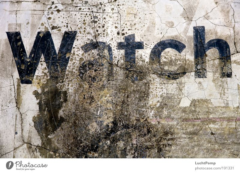 Old Dark Wall (building) Style Gray Wall (barrier) Building Graffiti Brown Dirty Design Concrete Characters Broken Letters (alphabet) Transience
