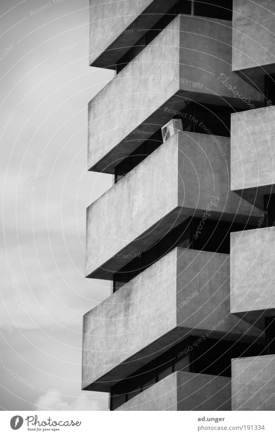 arc 1 Town Architecture Balcony Esthetic Modern Arrangement Pure Linearity Abstract Continuity Repeating Kuala Lumpur Malaya Skyline Hotel Black & white photo