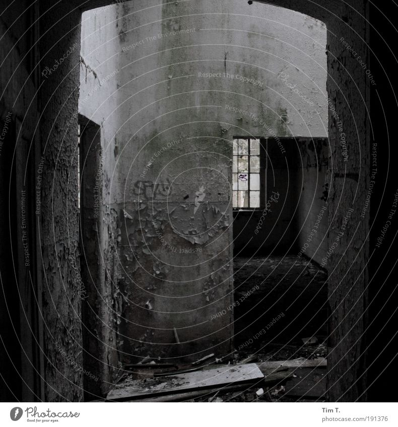 ALPHERES (Series) Deserted House (Residential Structure) Ruin Wall (barrier) Wall (building) Window Door Fear of the future Stagnating Decline Transience