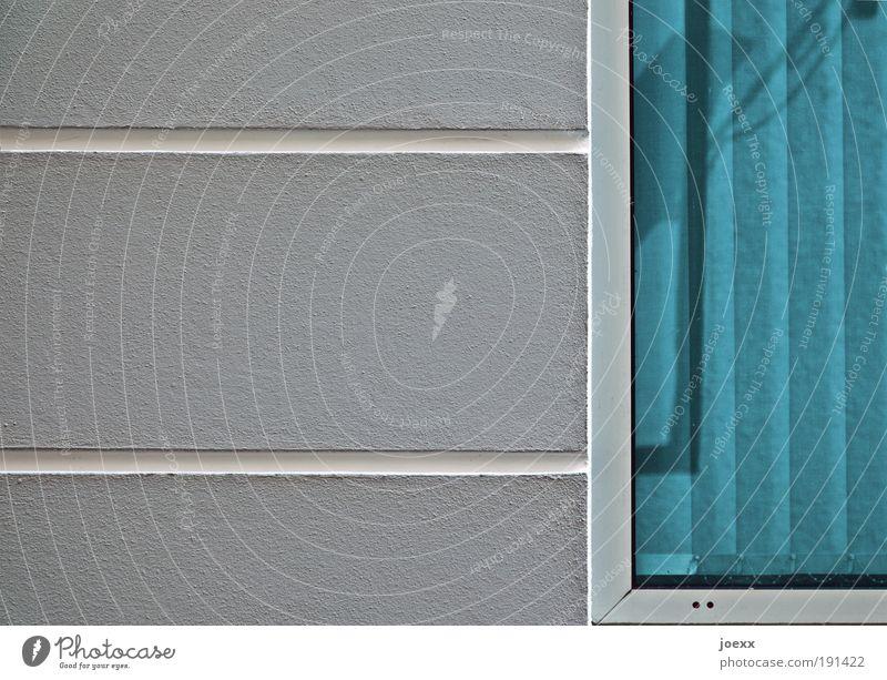 Blue White House (Residential Structure) Window Wall (building) Gray Wall (barrier) Facade Arrangement Esthetic Stripe Arrange Slat blinds Window frame