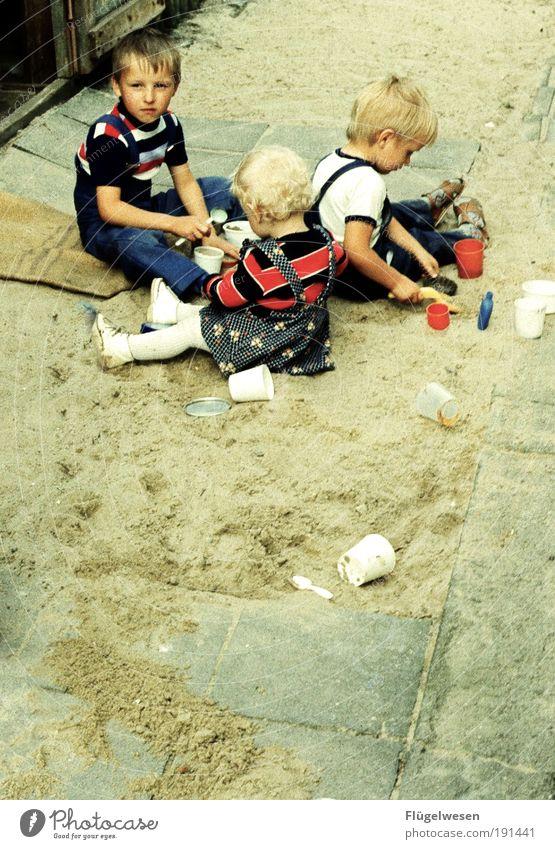 The Sandbox Gang Leisure and hobbies Playing Vacation & Travel Parenting Kindergarten Child Infancy Lanes & trails Blonde Determination Joy Sandpit Former