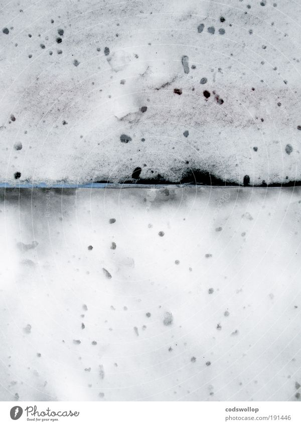 larmes dans la neige Winter Snow Cold Thaw Melt Abstract Gloomy Colour photo Exterior shot Downward Day