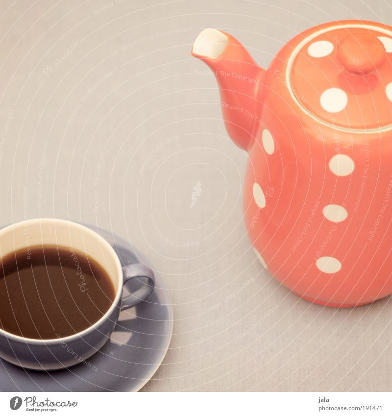 Blue Red Gray Beverage Coffee Break Point Crockery Cup Nutrition Jug Spotted Food Saucer Hot drink Coffee pot