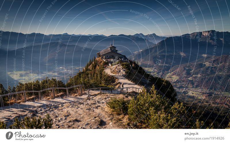 Eagle's Nest Vacation & Travel Tourism Trip Adventure Far-off places Mountain Hiking Nature Landscape Sky Horizon Alps Berchtesgaden Germany Upper Bavaria Hut