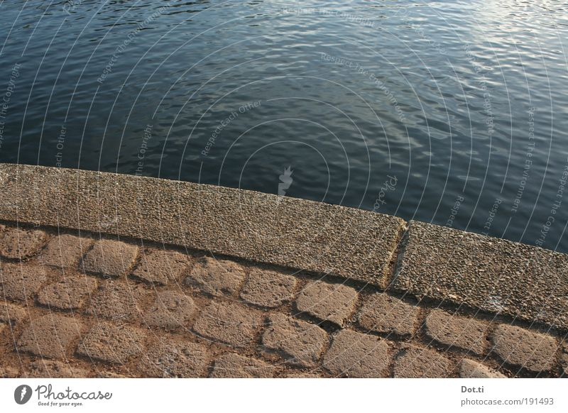 Water Lake Environment Empty Cobblestones Lakeside Pond River bank Edge Arch Body of water Surface of water