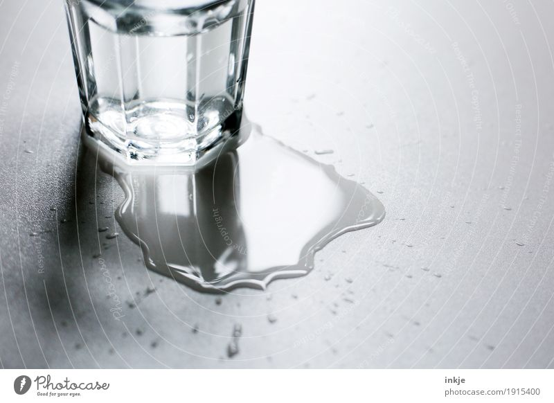 Water Glass Glass Drinking water Wet Beverage Patch Side Puddle Adversity Tumbler Daub Spill