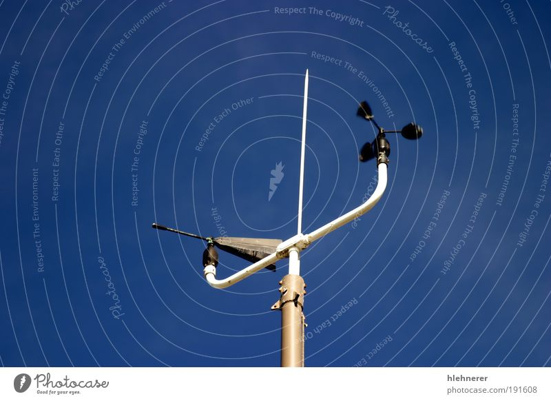 Weather Station Science & Research Screen Technology Nature Air Sky Climate Wind Movement Blue White Energy Measurement instrument anemometer Meteorology