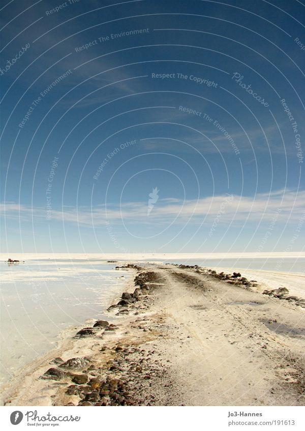 """Title search Nature Landscape Air Sky Beautiful weather Snow Desert """"Salt desert """"Salar de Uyuni"""" Far-off places Free Large Blue White Hope Uniqueness"""