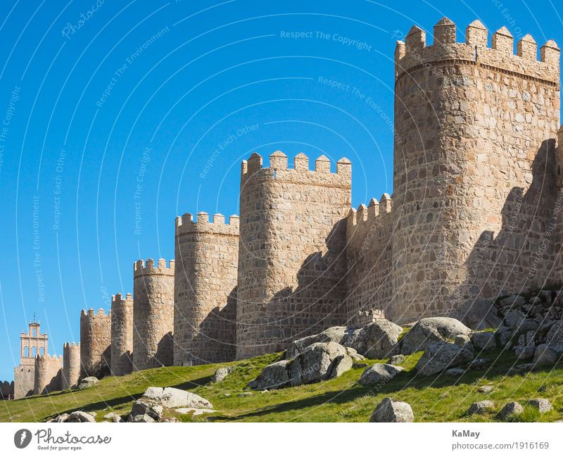 mightily Tourism Sightseeing Ávila Spain Small Town Deserted Tower Manmade structures Architecture Tourist Attraction Landmark City wall Stone Old Threat Large