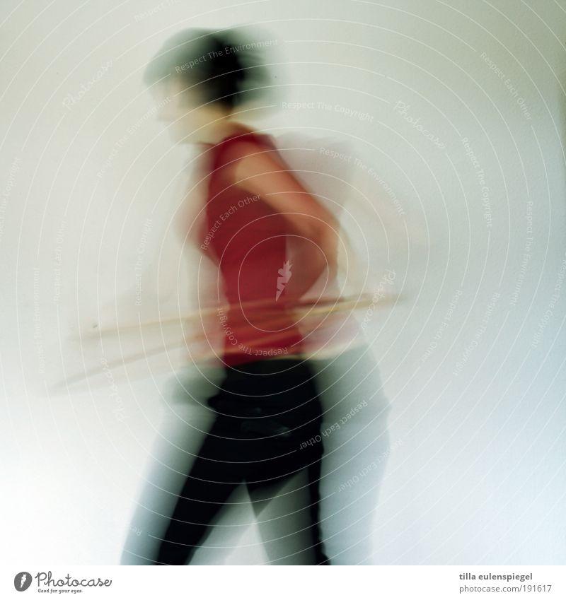 Woman Human being Joy Adults Feminine Life Sports Movement Healthy Body Power Motion blur Speed Rotate Joie de vivre (Vitality)