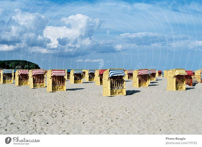 Ocean Beach Loneliness Lake Empty Europe End Baltic Sea Beach chair Final End of the season