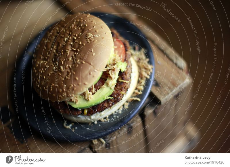Burger II Food Vegetable Dough Baked goods Sesame Avocado Tomato Roll fried onions Nutrition Eating Lunch Dinner Buffet Brunch Fast food Fragrance Delicious