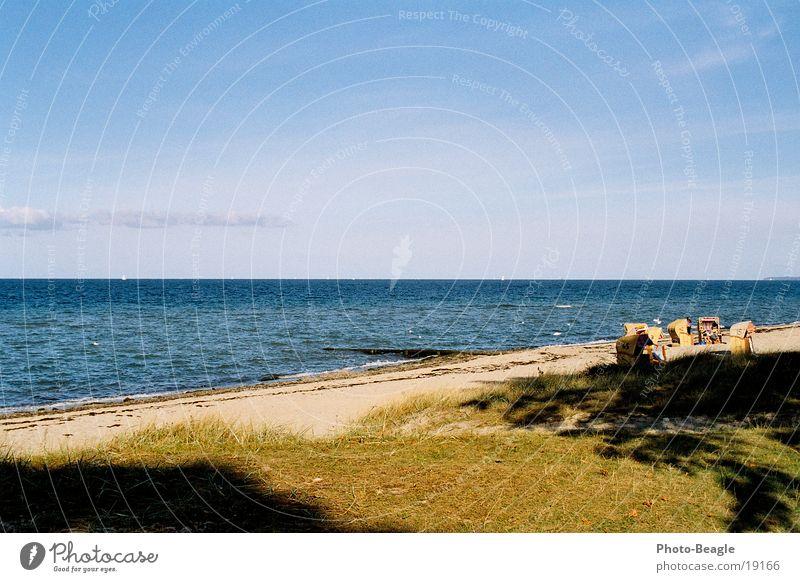 Water Ocean Beach Vacation & Travel Sand Europe Idyll Baltic Sea Beach chair