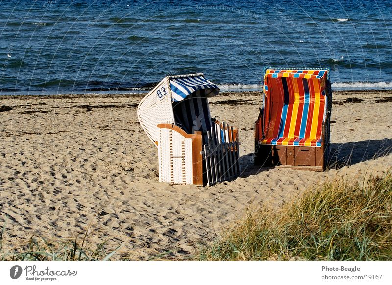 Beach Chair Idyll_02 Beach chair Ocean Vacation & Travel Europe Baltic Sea Water Sand sea seaside wave waves beach chairs holiday holidays vacation