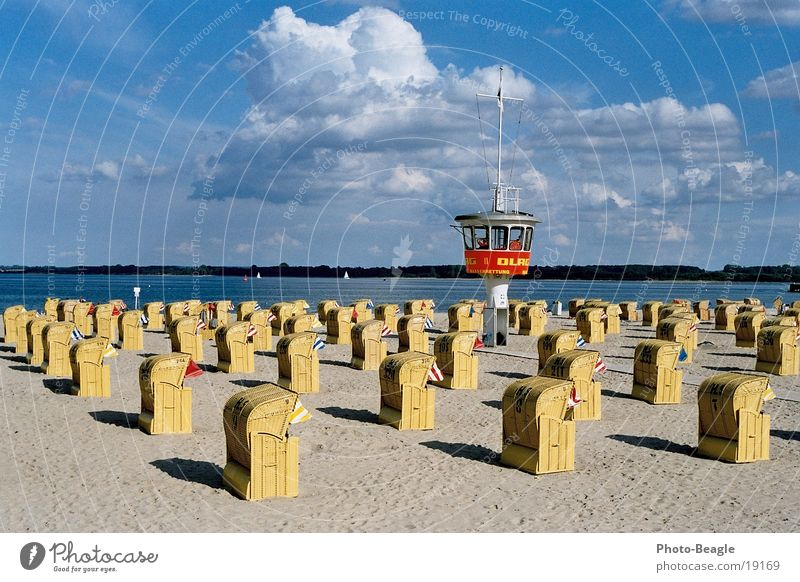 Water Ocean Beach Vacation & Travel Europe Baltic Sea Beach chair Watch tower