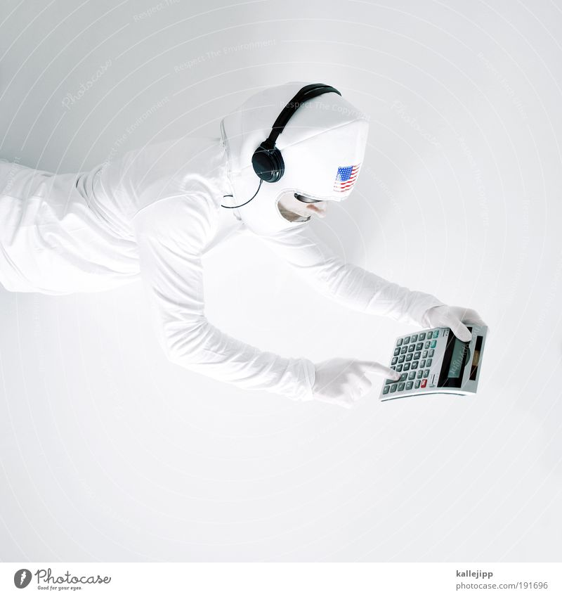 Human being Man Hand Adults Head Computer Flying Arm Masculine Future Fingers Scientist Technology Universe Science & Research Mathematics