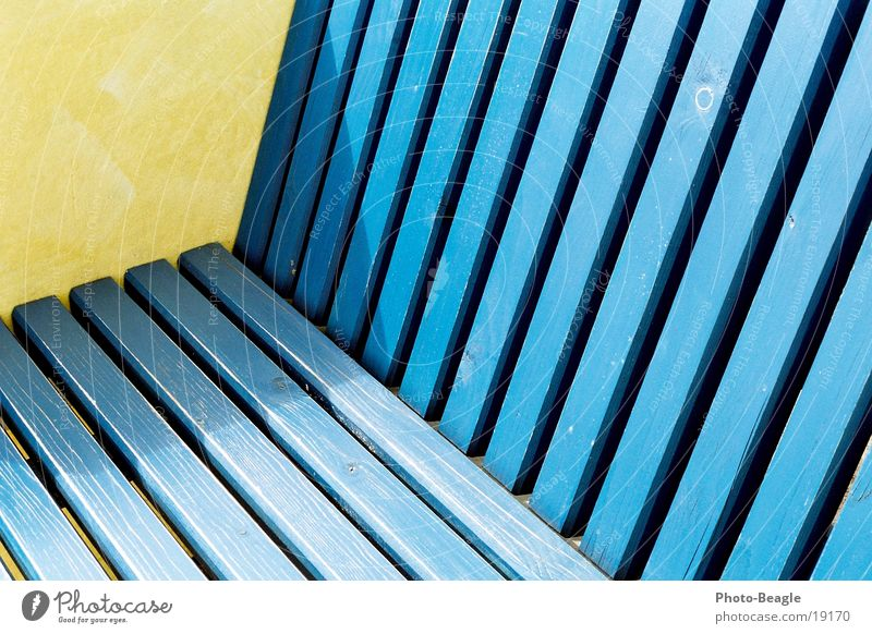Blue Yellow Wood Europe Seating Wood grain