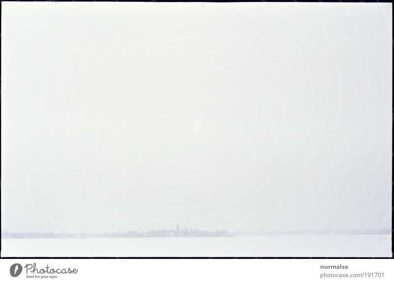 little Art Environment Nature Landscape Plant Animal Horizon Climate Weather Fog Ice Frost Snow Coast River bank Island Havel Werder Havel Small Town Skyline