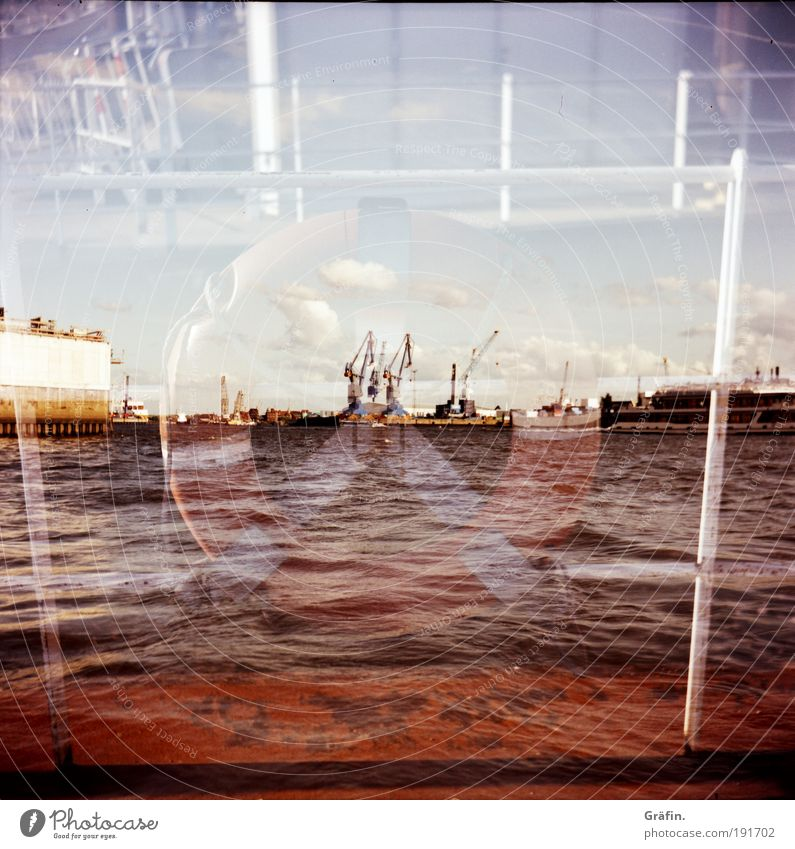Water City Summer Clouds Movement Wet Hamburg Industry River Lomography Harbour Sailing Mobility Navigation