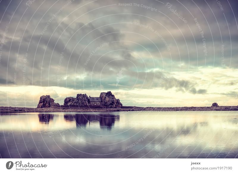 Old Blue Beautiful Water White Clouds House (Residential Structure) Calm Yellow Small Gray Brown Rock Horizon Living or residing Power