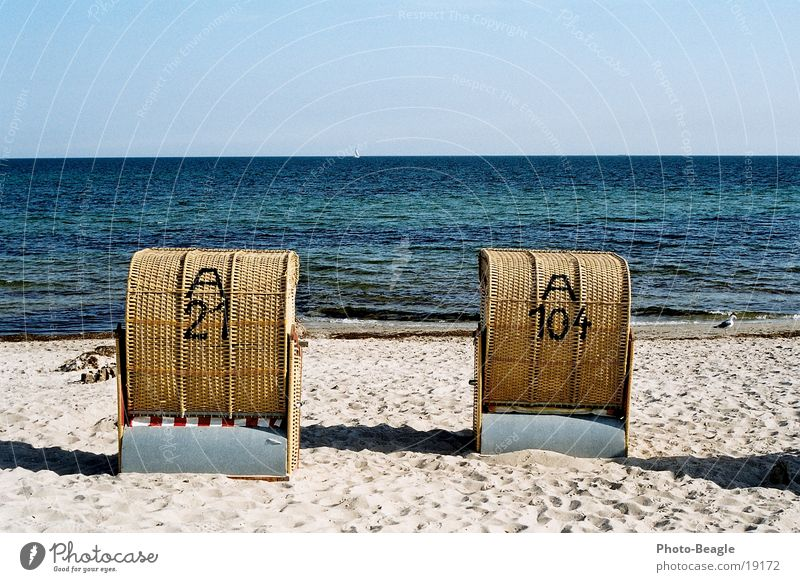 Water Ocean Beach Lake Europe Baltic Sea Beach chair