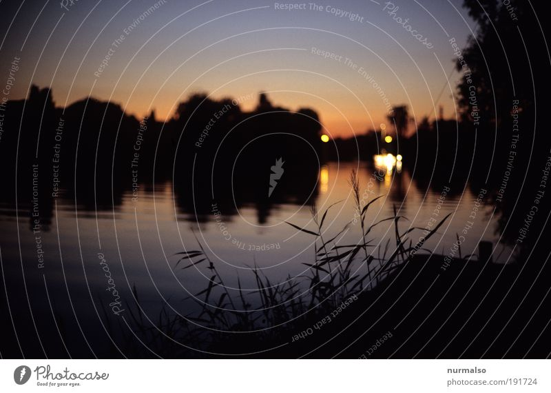 Summer Sun Set Harmonious Leisure and hobbies Fishing (Angle) Vacation & Travel Tourism Far-off places Freedom Dream house Environment Nature Landscape Water