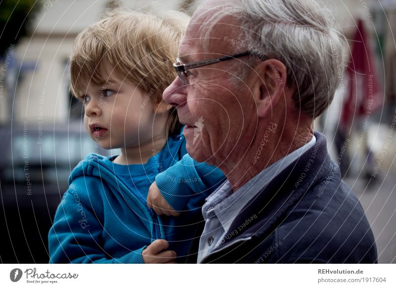 on the road with grandpa Human being Masculine Child Toddler Boy (child) Man Adults Male senior Grandfather Family & Relations Infancy Face 2 1 - 3 years