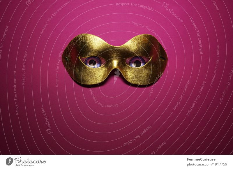 Eyes Fear Mysterious Mask Carnival Anonymous Confidant