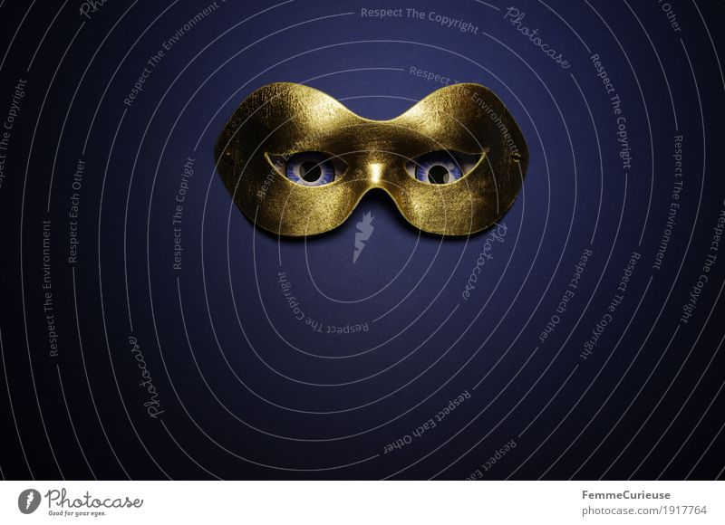 In sight (10) Eyes Fear Mask Masked ball Carnival Hide Concealed Anonymous Dress up Gold Blue Looking Observe Phantom Dark Illuminate Creepy Mysterious