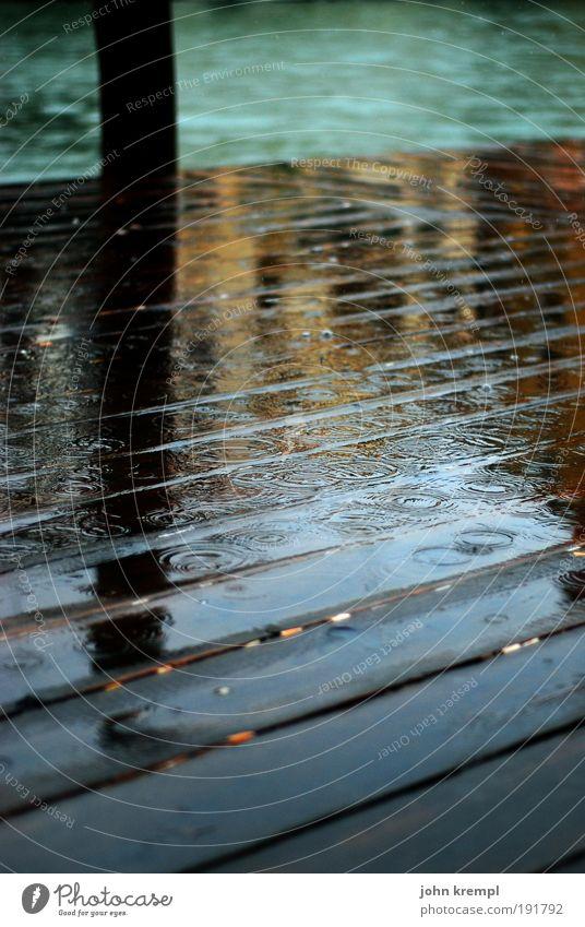 november rain Rain Thunder and lightning Waves Coast Ocean Venice Italy Terrace Footbridge Old Dark Historic Wet Brown Green Sadness Concern Grief Death