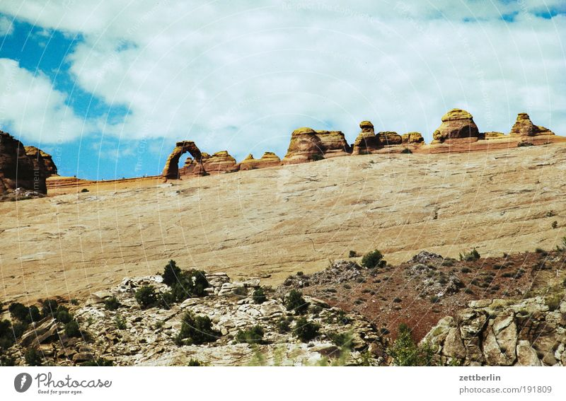 Sky Nature Vacation & Travel Far-off places Stone Lanes & trails Rock USA Desert Travel photography Mountain Footpath Americas American Flag Canyon