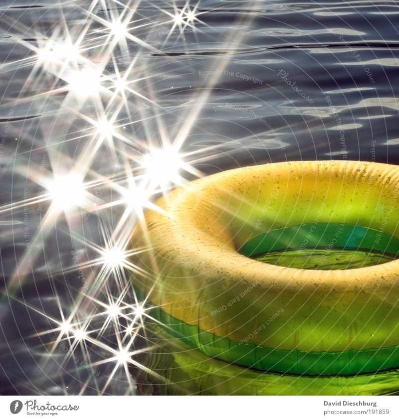 summer feeling Life Vacation & Travel Summer vacation Ocean Waves Beautiful weather Island Yellow Silver Star (Symbol) Glare effect Water wings Relaxation