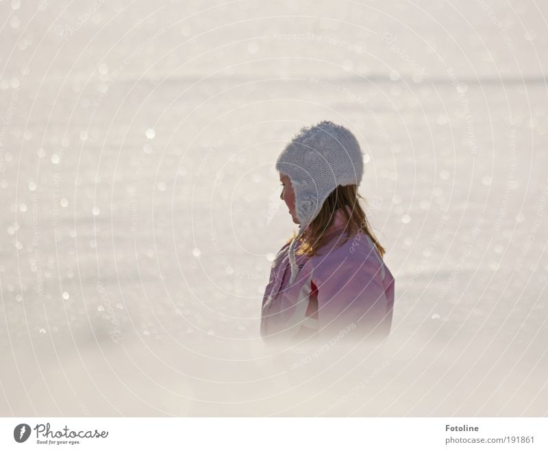 winter's tale Human being Child Girl Head Hair and hairstyles Face Nose Mouth 1 Environment Nature Landscape Elements Earth Air Water Winter Climate