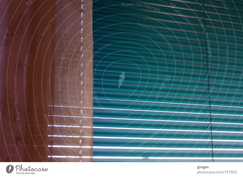 Blue Window Pink Stripe String Drape Direct Venetian blinds Disk Blue-green