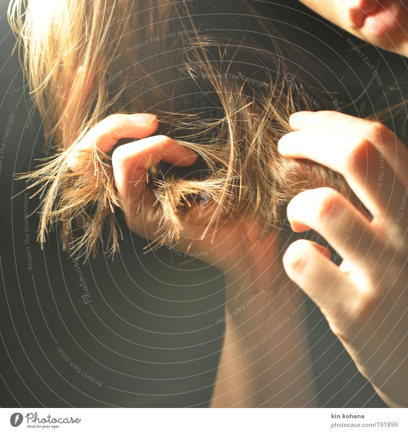 Human being Woman Youth (Young adults) Hand Beautiful Adults Face Feminine Hair and hairstyles Young woman Skin Mouth Fingers Soft Lips Touch