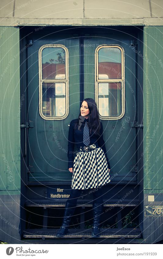 Woman Human being Youth (Young adults) Beautiful Vacation & Travel Adults Far-off places Feminine Life Freedom Fashion Elegant Natural Transport Tourism Railroad