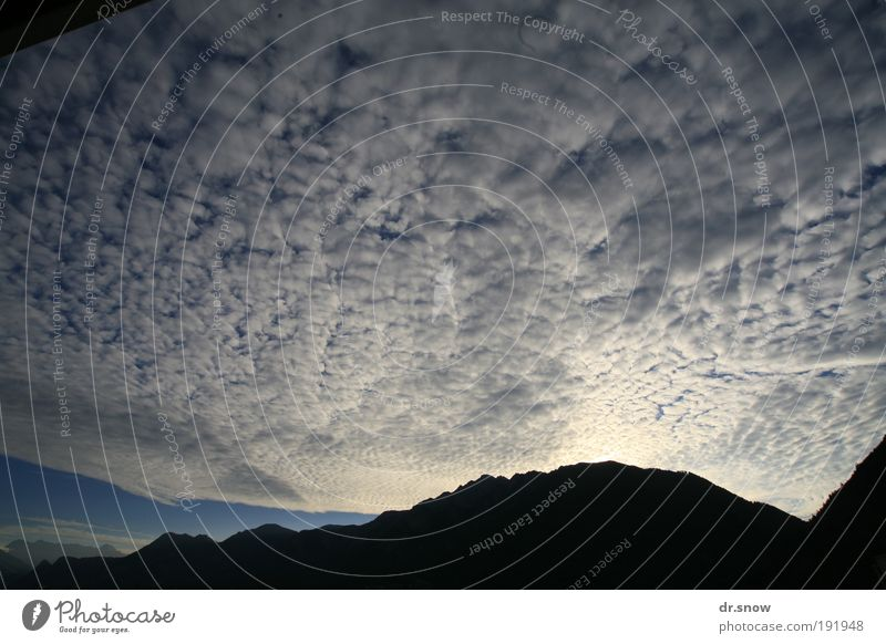 Blue Clouds Mountain Moody Weather Energy Alps Switzerland Surrealism Climate change Rhein valley Chur