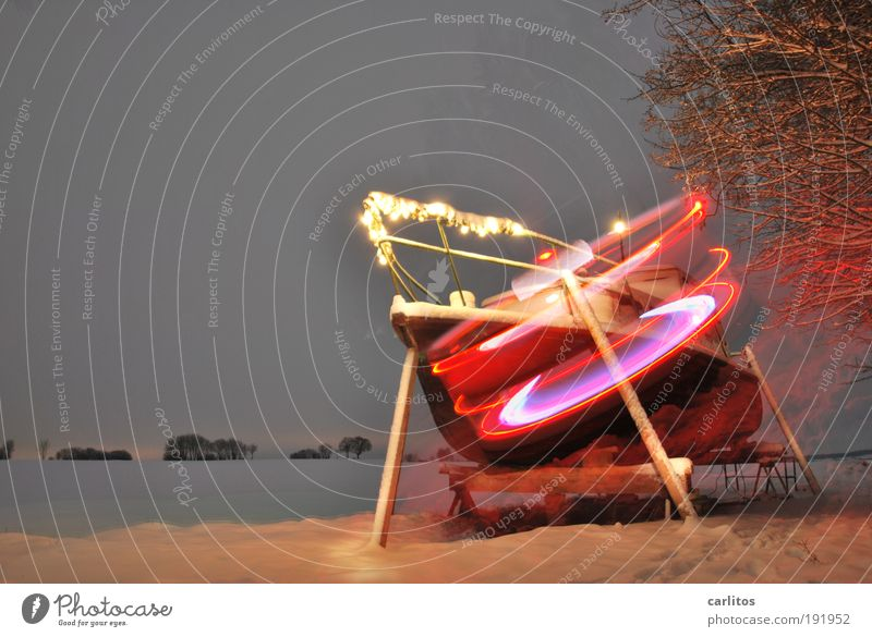 Red Snow Watercraft Illuminate Speed Machinery Tilt Solar Power Rotate Double exposure Escape Rescue Energy industry Go under Motive Yacht