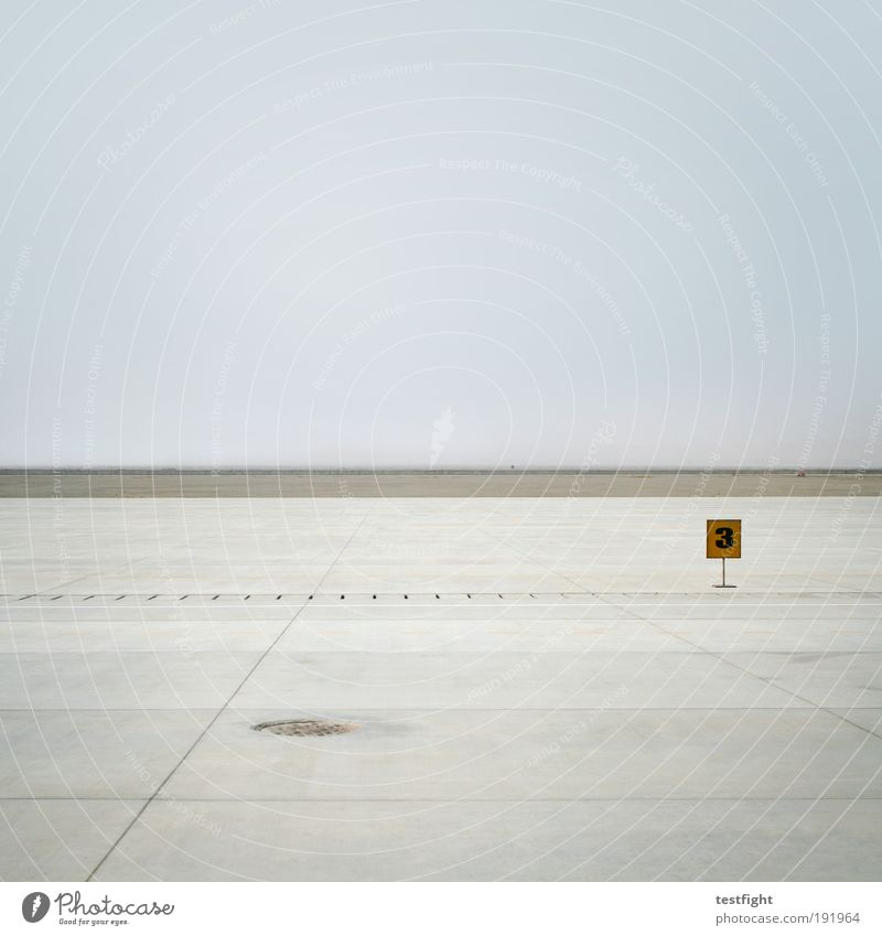 Sky Vacation & Travel Far-off places Freedom Landscape Wait Aviation Simple Airfield