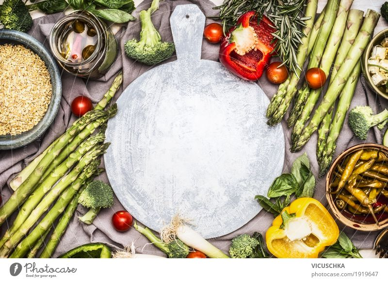 Healthy Eating Food photograph Life Spring Background picture Style Food Design Living or residing Nutrition Table Herbs and spices Kitchen Vegetable Grain Organic produce