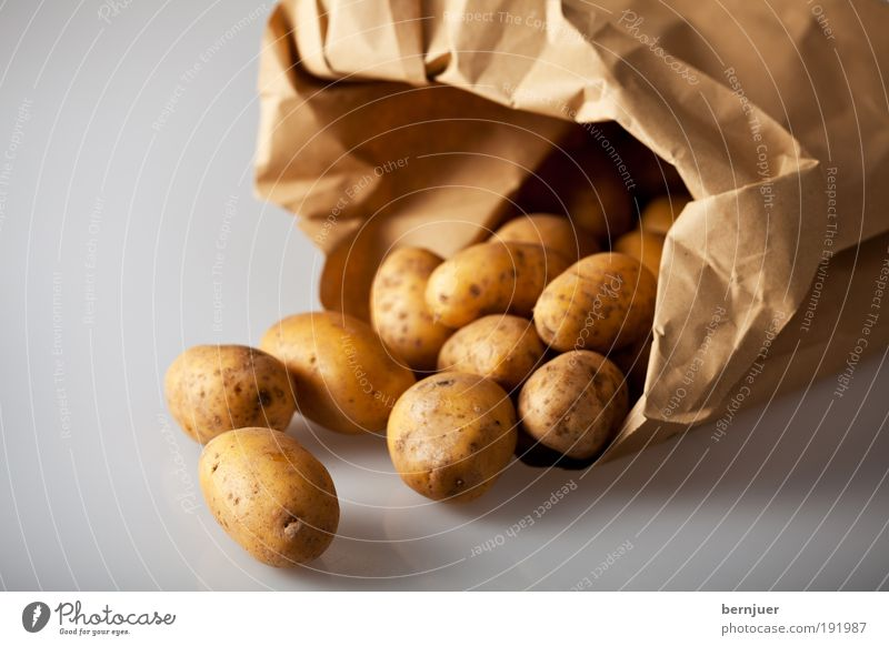 Brown Food Gold Cooking & Baking Open Vegetable Paper bag Potatoes Raw Ingredients Vegetarian diet Bulb