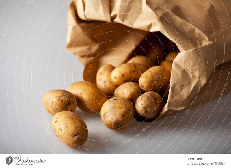 Brown Food Gold Cooking & Baking Open Vegetable Paper bag Potatoes Raw Ingredients Vegetarian diet Bulb