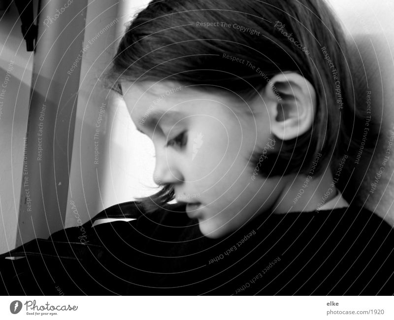 mood Child Human being Black & white photo